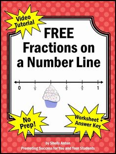 Fractions on a Number Line Grade Tutorial for KidsYou can find Math and more on our website.Fractions on a Number Line Grade Tutorial for Kids 3rd Grade Fractions, Teaching Fractions, Fourth Grade Math, Third Grade Math, Math Fractions, Teaching Math, Equivalent Fractions, Grade 3, Decimal Multiplication