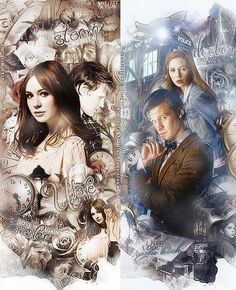 Clara, Amy, and The Doctor