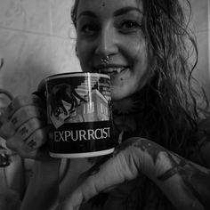 Portrait of the ill me with mug by amazing Nuclear holocats. Postapo, smart and catloving brand by my friends <3  http://holocats.cz/cs/