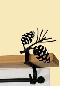 Pinecone - Curtain Shelf Brackets