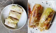 Hier haben wir für Euch eine vegetarische Alternative zu den herkömmlichen Kohlrouladen, die normalerweise mit Hackfleisch gefüllt werden. Wir haben die Rouladen mit einer Mischung aus Paprika, Tomaten, Kohl und etwas Quinoa gefüllt.