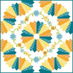 The Dresden Plate quilt block was named after the ornately decorated tableware of Dresden, Germany. Some fantastic Dresden Plate variations . Dresden Quilt, Dresden Plate Patterns, Quilt Block Patterns, Quilt Blocks, Hexagon Quilt, Square Quilt, Quilting Projects, Quilting Designs, Quilting Tutorials