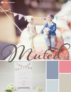 Shale, Dusty Rose, Silver, and Sugar Spring Wedding Color Palette | Wedding Color Trends | MagnetStreet Weddings