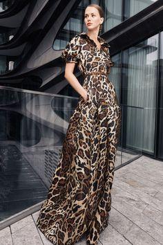 Vogue Fashion, Fashion Week, Fashion 2020, Runway Fashion, Spring Fashion, Naeem Khan, Animal Print Fashion, Fashion Prints, Fashion Design