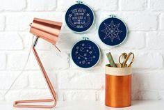 Constellation hoop art stitch pattern