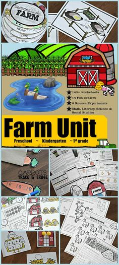HUGE Kindergarten Farm Unit – printable worksheets, activities, games, readers, and more for ki… – Science Time Animal Activities, Infant Activities, Activities For Kids, Kindergarten Units, Kindergarten Language Arts, Kindergarten Learning, The Farm, Comprehension Activities, Reading Comprehension