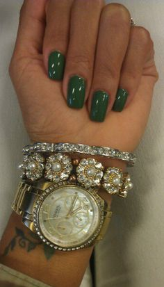 """{ Nails """"Don't mess with Opi"""" by OPI, F21 bracelets, Fossil watch }."""