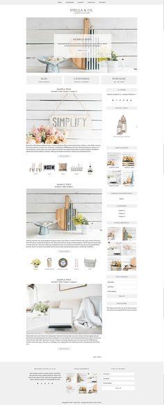 Stella & Co. - WordPress Theme by Bella Creative Studio on @creativemarket