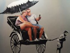 Bloated tourists and excess vs. poverty and despair -- Bansky Art by denny.wong, via Flickr