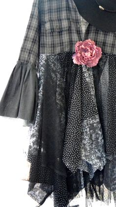 Flannel jacket Gypsy vagabond coat bohemian by TrueRebelClothing