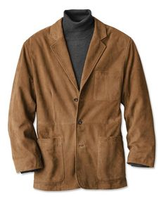 Mens Suede Blazer - Suede Blazer -- Take the guess work out and just order this jacket!