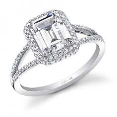 Emerald Cut Diamond Engagement Ring - SY289