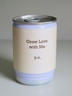 Yoko Ono multiple, Grow Love with Me, For the Serpentine Gallery Yoko Ono has produced Grow Love with Me. Medium: Aluminium can, bean. Yoko Ono, Fast Growing Vines, Galleries In London, Mothers Love, New Art, Gift Guide, Beans, The Creator, Texts