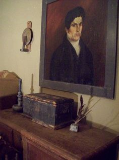 I think portraits bring something special to country decorating.