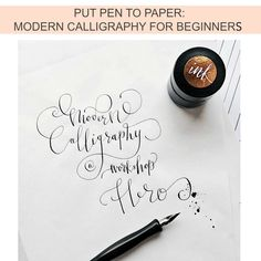 MODERN CALLIGRAPHY WORKSHOP |  Hampshire, May 2018. Hero Stores @hero_stores.