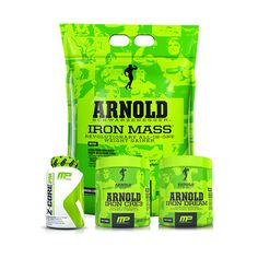 Muscle Pharm Arnold Series SERIOUS MASS Stack. Here is is, the mass stack from the super popular Arnold Series. We have everything you need to keep the gains coming in this stack. Iron Mass, Iron Dream, Iron Cre3 and Z-core P.M.
