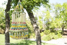 Throwing a summer bash? Create a beaded chandelier to enhance the party atmosphere!
