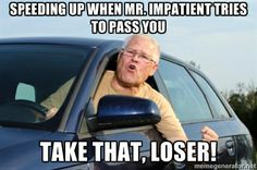 speeding up impatient take that! driving humor