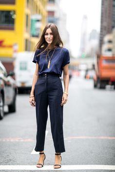Look de trabalho, calça de cintura alta, pantalona, nudist sandal. Giorgia Tordini
