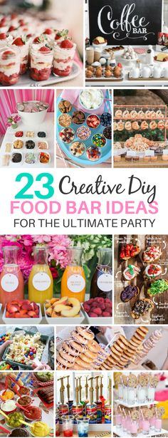 These 23 Creative DIY Food Bar Ideas Are Perfect For Parties With Large Groups | Food Station | Drink Station | Party Recipes | Party Beverages | Holiday Food Bars