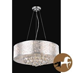 Christopher Knight Home Chrome 9-light Crystal Drop Chandelier