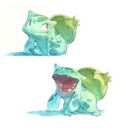 Pokemon in watercolors by Nicholas Kole