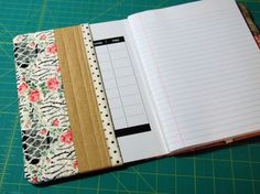 Making covers for ugly composition notebooks.