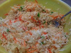 I MISS HAITI! Pikliz Cabbage – 2 heads 4 – 8 Hot peppers (scotch bonnet) 1 Carrot 1 green bell pepper 1 orange or red bell pepper 4 limes ½ Chicken bouillon cube Splash of Vinegar 1 tsp. Carribean Food, Caribbean Recipes, Hatian Food, Veggie Recipes, Cooking Recipes, Donut Recipes, Trinidad Recipes, New Orleans Recipes, Haitian Food Recipes
