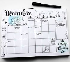 "99 mentions J'aime, 14 commentaires - Virginie (@french_dreamer_life_lover) sur Instagram : ""Planning décembre #monthlylog #decembre #december #hellodecember #hellodecembre #bulletjournal…"""