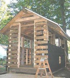 DIY pallet shed.