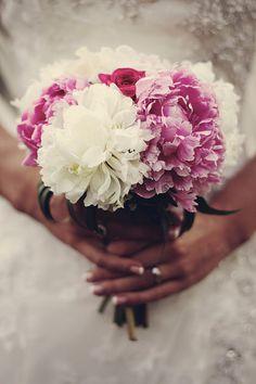 peony bouquet wedding flowers