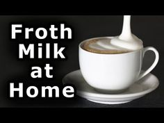 The Easiest Way to Froth Milk at home! darajman shows you how to make beautiful, velvety-smooth frothed milk for lattes, cappuccinos, hot chocolates and flat. Coffee Latte Art, Espresso Coffee Machine, Cappuccino Coffee, Iced Coffee, Coffee Shop, Coffee Cups, Milk Recipes, Coffee Recipes, Keto Recipes