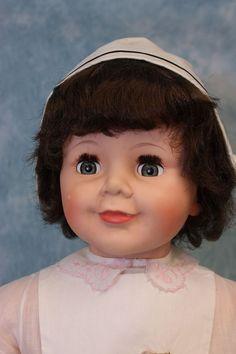 "RARE+1960+36""+Madame+Alexander+Nurse+Joanie+Doll+w.+Orig.wrist+tag+&+Watch+"