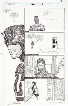Daredevil #280 page 3 - John Romita Jr and Al Williamson.
