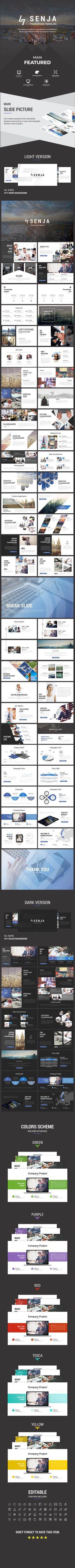 Senja Powerpoint Presentation Template #business #corporate #professional
