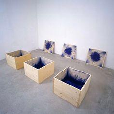 """1,319 Likes, 2 Comments - Avant Arte (@avant.arte) on Instagram: """"3 blaue Kisten by Roman Signer #romansigner"""""""