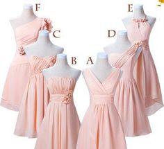 Custom made Bridesmaid Dress - Short Bridesmaid Dress / pink Bridesmaid Dress / V-neck Bridesmaid Dress on Etsy, $59.00