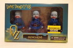Mezco Living Dead Dolls EE Exclusive Munchkins of Oz 3 Pack Figure Set #Mezco