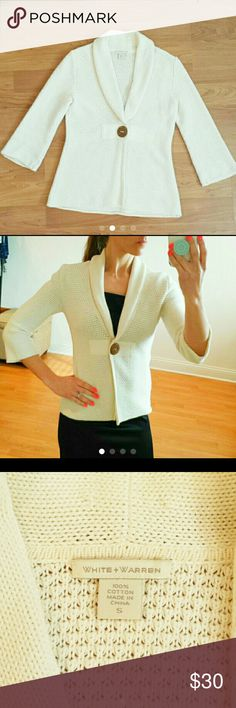 White + Warren knit sweater jacket White + Warren  Size : small  Like new White + Warren Jackets & Coats Blazers