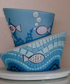 mosaico fundo do mar