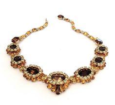 Gorgeous Vintage Kramer Rhinestone Necklace by Vintageimagine