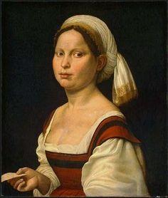 Giuliana Bugiardini, Portrait of a Young Woman, 1525.