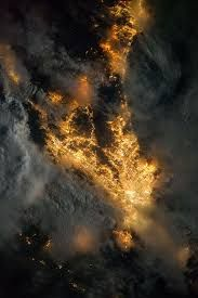 Image result for city lights from space