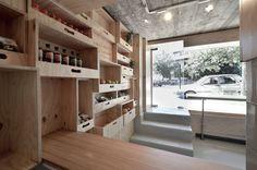 Frufru take away shop by Corvin Cristian store design