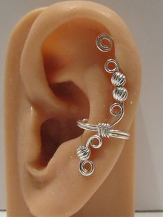 Sterling Silver Ear Cuff Cartilage Earring Non by RazzleDazzleMe, $14.25