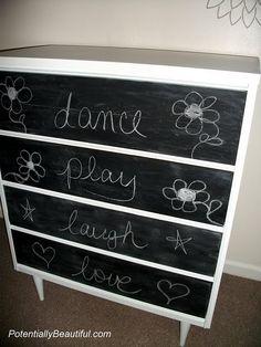 15 Chalkboard Dresser Painting Ideas | Shelterness | DIY Ideas | Pinterest  | Dresser Painting, Chalkboards And Dresser