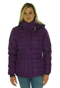 96f8dce480e Rampage Womens Hooded Quilted Puffer Coat XS Purple Made by #Rampage Color  #Purple.