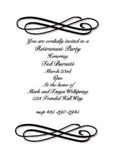 free retirement invitation templates for word - Google Search ...