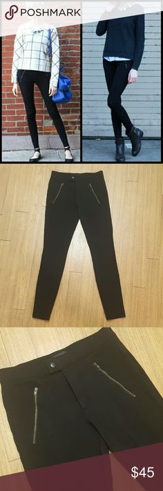 J Crew snap zip pixie pants Blogger fav, and easy style staple! Form well and are figure flattering. Size 4 is true to size J Crew fit. These pixie pants are very versatile, and in great pre owned condition! J. Crew Pants