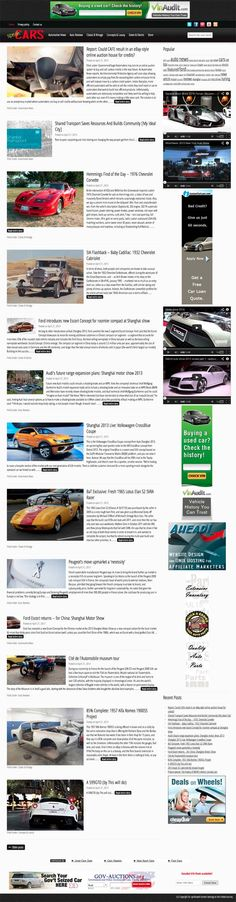 CARS and automotive news aggregator  Automatically get fresh automotive news along with insights, cars reviews and stunning pictures. The site could easily become an authority in the extremely highly remunerative automotive industry. Open to customization in case you want to take the site further or change/add topics. Gorgeous new mobile responsive design! HUGE monetization potential, keywords such as car insurance, car quotes, car loan etc. etc. pay up to thirty dollars PER CLICK.